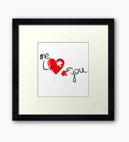 LOVE PUZZLE Framed Print
