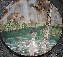 merganser on battle creek pond by lynnieB