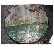 merganser on battle creek pond Poster