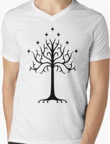 White Tree of Gondor Mens V-Neck T-Shirt