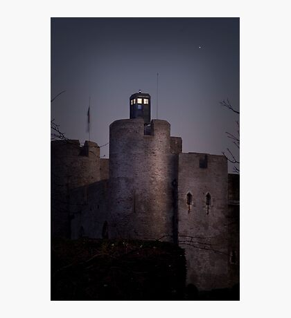 TARDIS at the castle Photographic Print