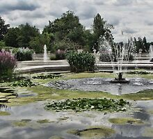Italian Garden, Hyde Park. by Ray Clarke