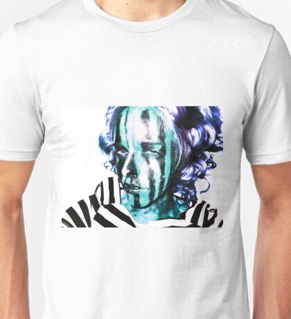 Faces Of Beautiful Horror- Image 7/Blue Hair Unisex T-Shirt