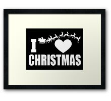 i heart christmas Framed Print