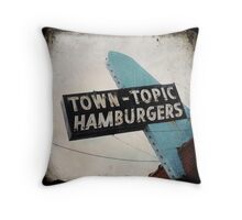 Town Topic Hamburgers Throw Pillow
