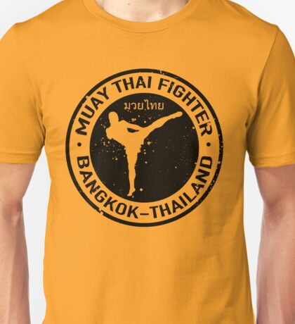 Muay Thai Logo (black) Unisex T-Shirt