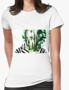 Faces Of Beautiful Horror- Image 7/Green Hair Womens Fitted T-Shirt