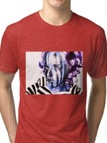 Faces Of Beautiful Horror- Image 7/Pink Hair Tri-blend T-Shirt