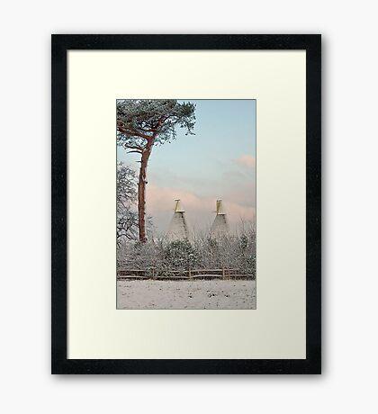 Oasts and Fir. Framed Print