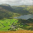 Looking Down On Buttermere Village.. by Jamie  Green