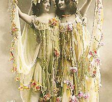 French Dancers vintage photo by Vintage Designs
