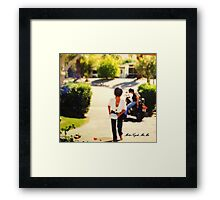 MOTORCYCLE MAMA..HEHE..JUST FOR FUN!!! Framed Print