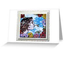 'Hummingbird Kisses' Greeting Card