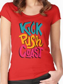 Kick Push Coast Women's Fitted Scoop T-Shirt
