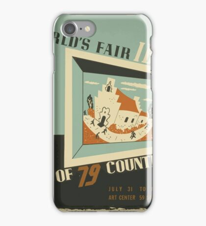 WPA United States Government Work Project Administration Poster 0742 World's Fair IBM Show iPhone Case/Skin