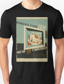 WPA United States Government Work Project Administration Poster 0742 World's Fair IBM Show T-Shirt
