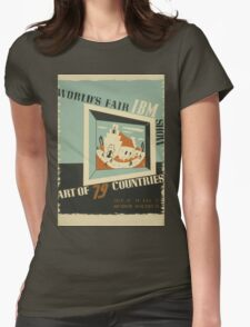 WPA United States Government Work Project Administration Poster 0742 World's Fair IBM Show Womens Fitted T-Shirt