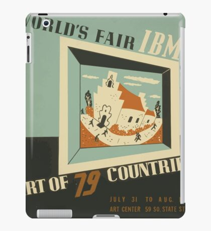 WPA United States Government Work Project Administration Poster 0742 World's Fair IBM Show iPad Case/Skin