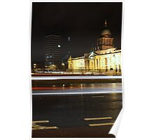 Customs House light trails Poster