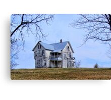 The Old House on  the Hill Canvas Print