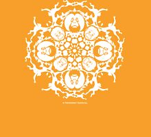 ORANGUTAN SNOWFLAKE ORANGE Womens Fitted T-Shirt