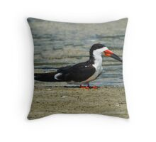 Resting Skimmer Throw Pillow