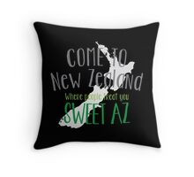 Come to NEW ZEALAND where people treat you SWEET AS! cool NZ design Throw Pillow