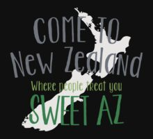 Come to NEW ZEALAND where people treat you SWEET AS! cool NZ design One Piece - Long Sleeve