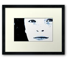 perfect song | poster blue Framed Print