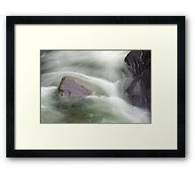 Water abstract  V Framed Print