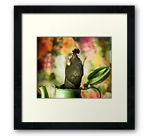 Mr.Mole and Mr.Bee and a rather green pot of tea Framed Print