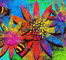 Sunshine Bees by KatieWStewart