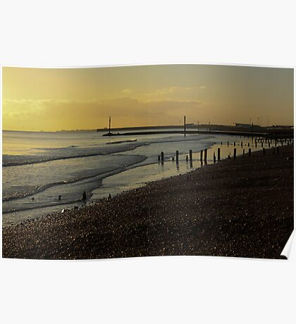 Portslade Basin Beach Poster