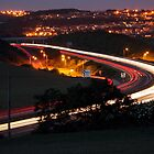 A27 at Hangleton at night by mr-scruffles