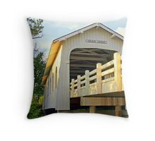 """Grave Creek Bridge"" Throw Pillow"