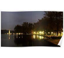 Evening at Swan Lake Poster
