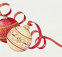 Ornaments and ribbons by lizblackdowding