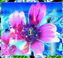 Blanket flower design in blue by ♥⊱ B. Randi Bailey