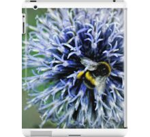 Globe Thistle and visitor iPad Case/Skin
