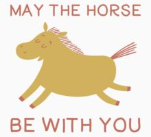 May The Horse Be With You - Cute Horse Lover T Shirt One Piece - Short Sleeve