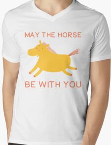 May The Horse Be With You - Cute Horse Lover T Shirt Mens V-Neck T-Shirt