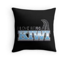 I LOVE BEING KIWI with silver fern Throw Pillow