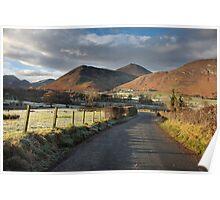 Newlands Valley From The Swinside Inn Poster