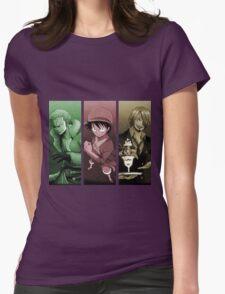 one piece straw hat luffy zoro sanji anime manga shirt Womens Fitted T-Shirt