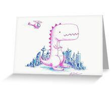 Little Godzilla (Rawr) Greeting Card