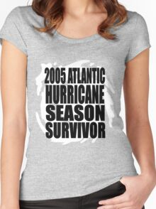 2005 Hurricane Season Survivor Women's Fitted Scoop T-Shirt