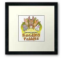 reading rabbits for rachael Framed Print