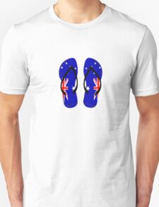 Australian Flag Thongs T-Shirt T-Shirt