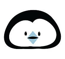 cute kawaii penguin face Photographic Print