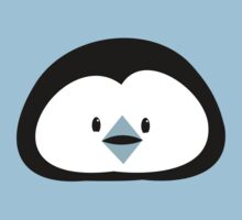 cute kawaii penguin face Baby Tee